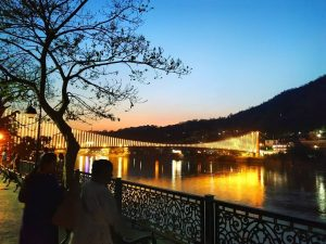 Lakshman Jhula with lights